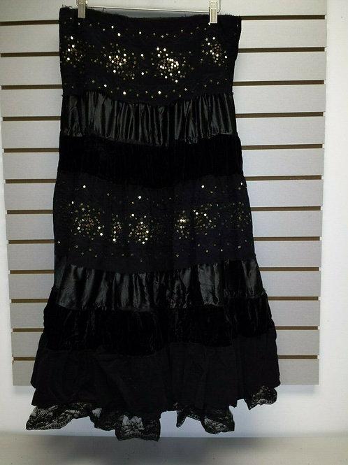Black layered BoHo Skirt