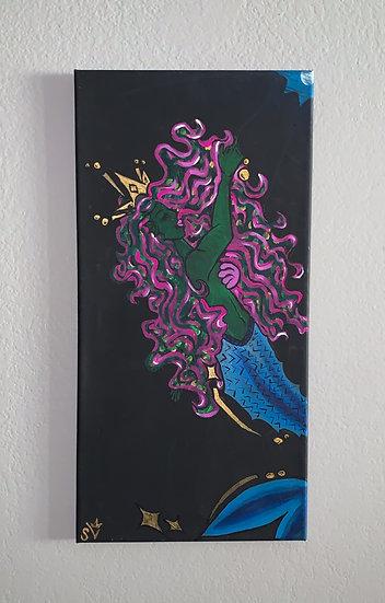 Mermaid Babe Pt.1 (10''x20'') Black Canvas