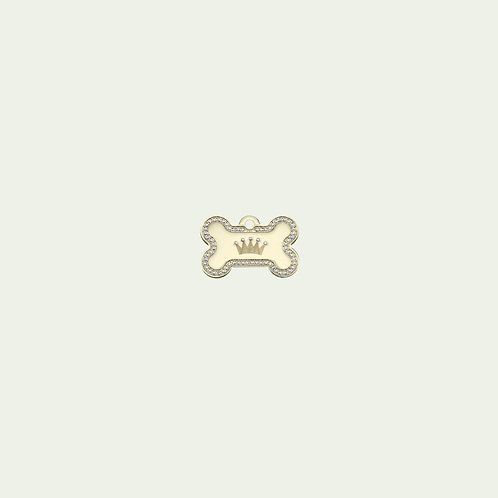 Gold Bone with Crown (Small)