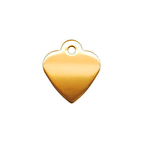 Gold Heart Tag (S)