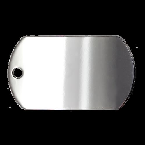 Chrome Military Tag (L)