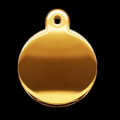Gold Circle Tag (L)