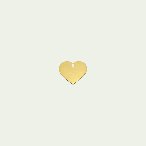 Gold Heart  Tag (L)