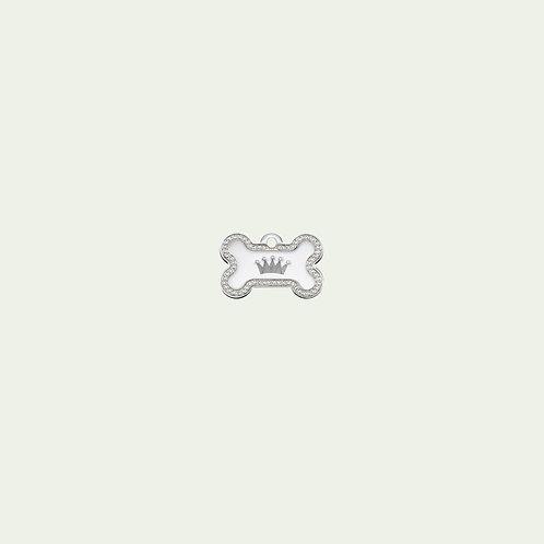 Silver Bone with Clown (Small)