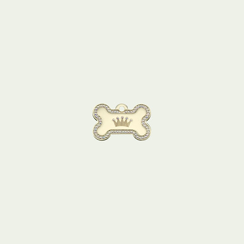 Gold Bone with Crown (Large)