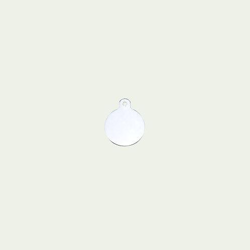 Chrome Circle Tag (L)