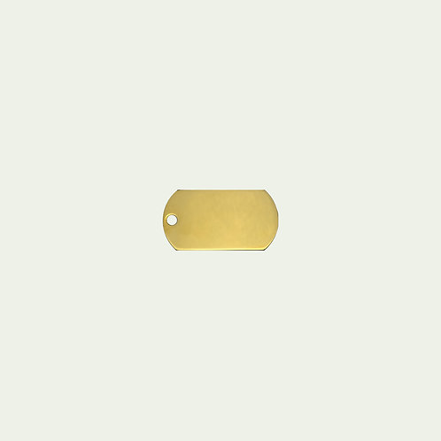 Gold Military Tag (L)