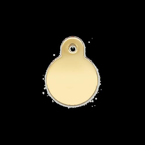 Gold Circle Tag (S)