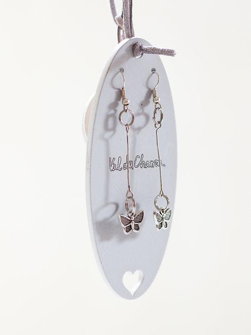 hanging butterfly earrings