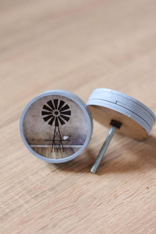 Doorknob printed Windmill black