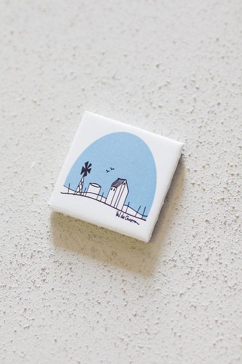 ceramic tile farm scene