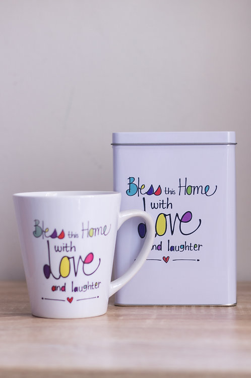 Tin & Mug Bless this home with love
