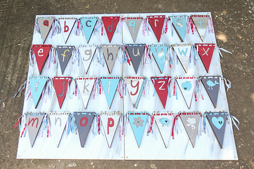Wooden bunting flag stand