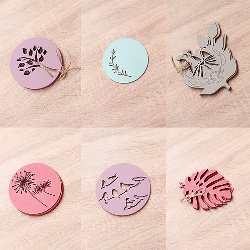 Coaster cut out set of 4