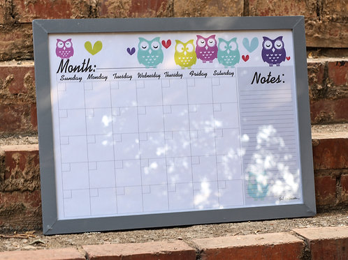 infinity calendar owl English