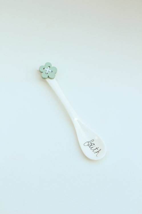 Ceramic spoon Faith
