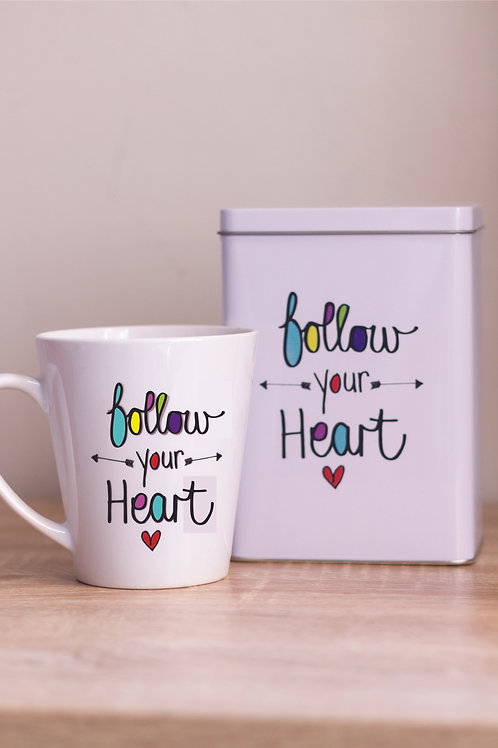 Tin & Mug Follow your heart