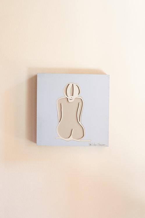 nude back side sit wall art