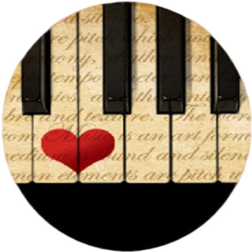 Piano heart pendant