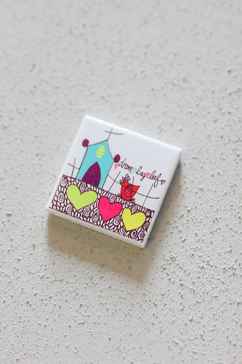 ceramic tile House with hearts