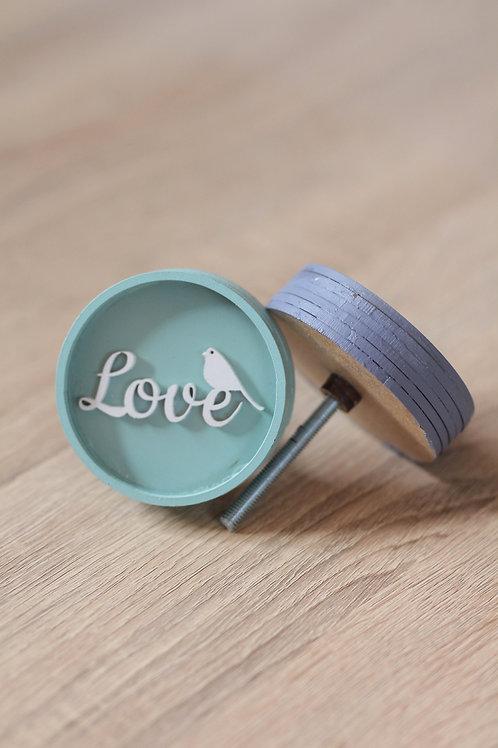 Doorknob wooden love
