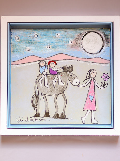Girl and Donkey 300x300