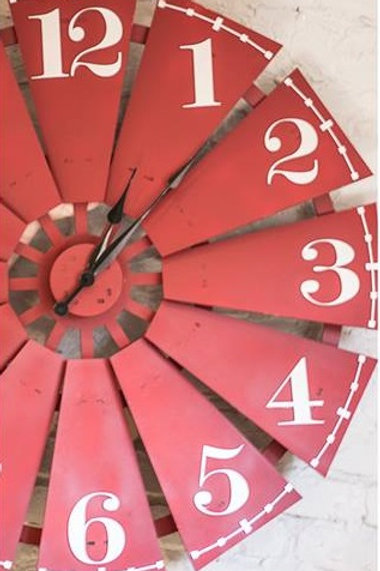 Large Windmill fin Clock
