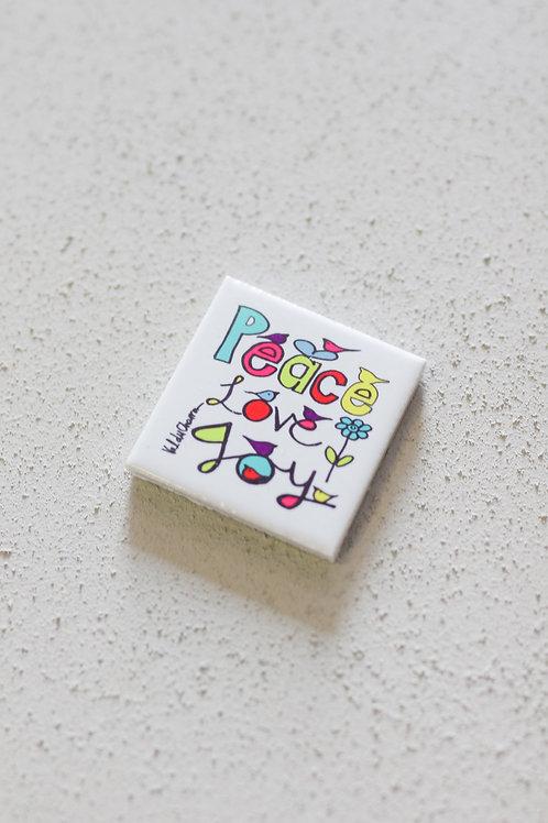 ceramic tile peace love joy