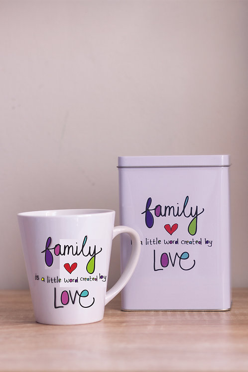 Tin & Mug Family is a little word created by Love