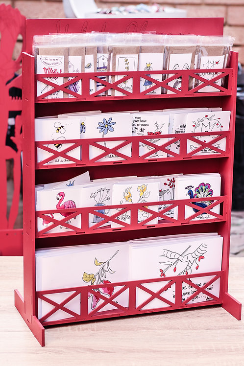 card stand 80 petite 40 small 30 medium
