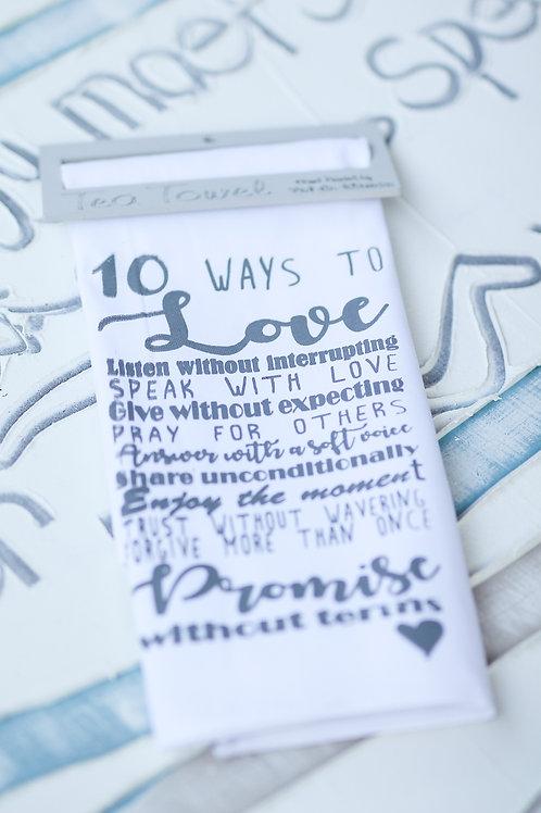 Tea Towel 10 ways to love