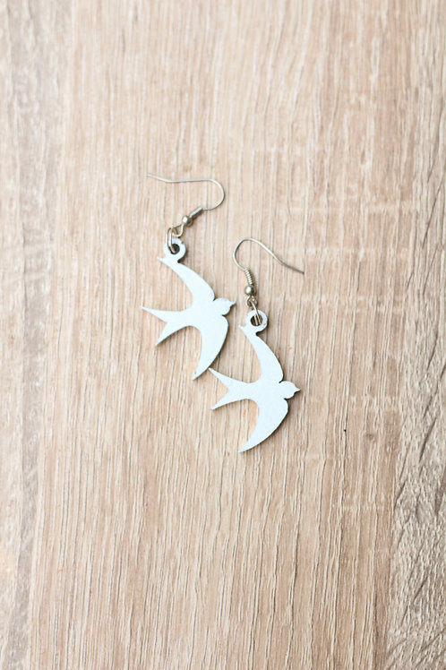 swallow laser cut earings