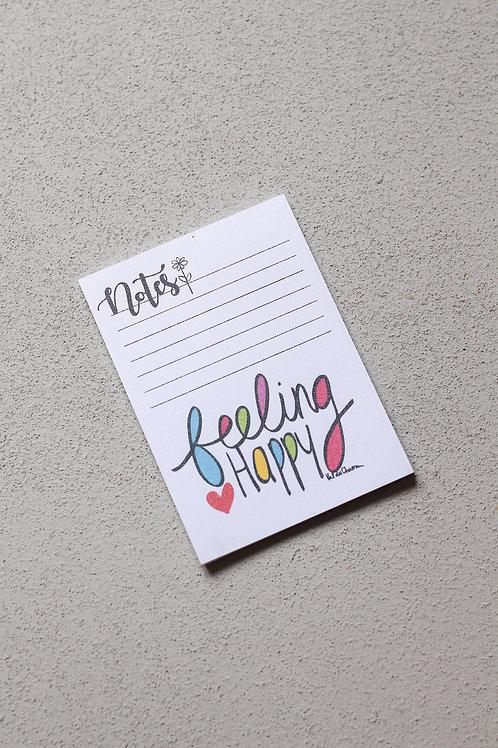 copy of feeling happy small notepad