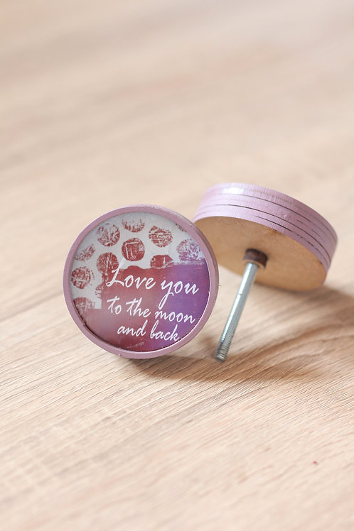 Doorknob Love you to the moon and back printed
