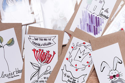 Petite Handrawn Cards