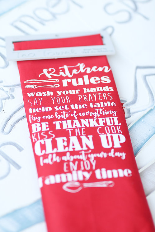 Tea Towel kitchen rules