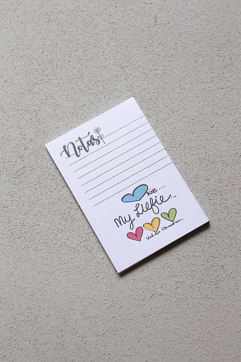my hartjie my liefie small notepad
