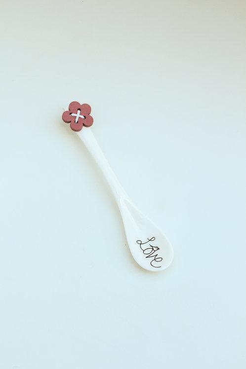Ceramic spoon Love