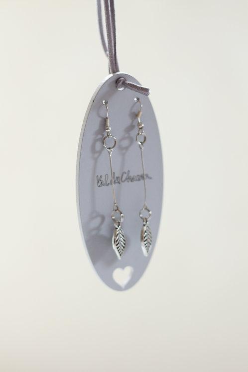 hanging leaves earrings