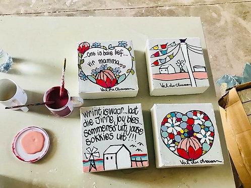 canvas set/4 pastel
