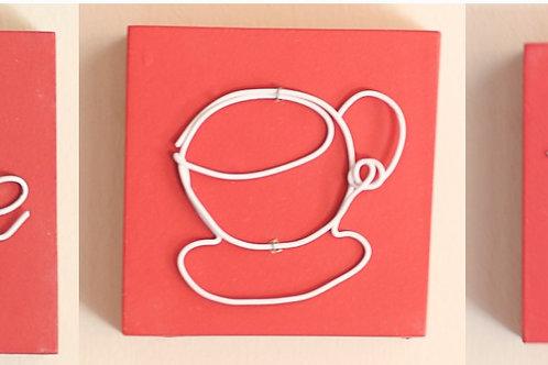 Wire Art set of 3 100x100
