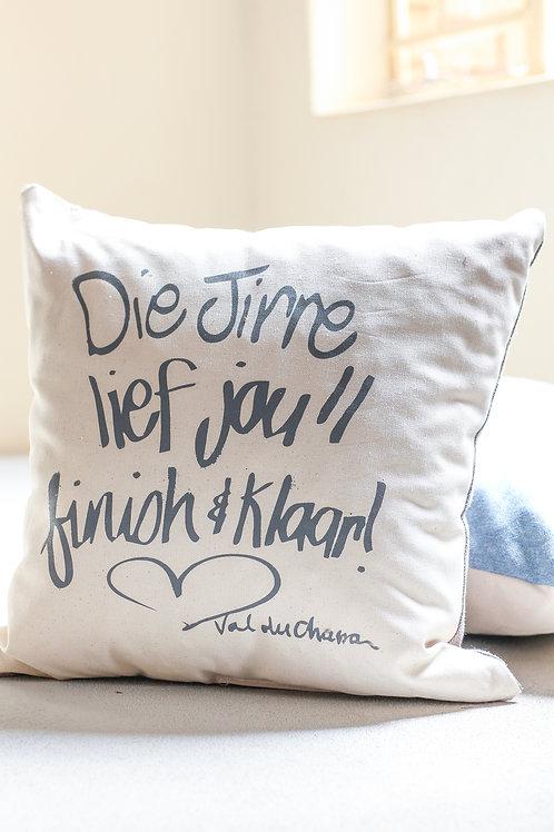 square cushion Die Jirre lief jou finish en klaar