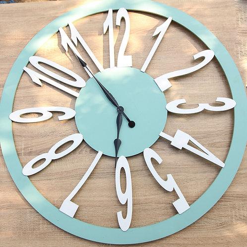 number laser clock