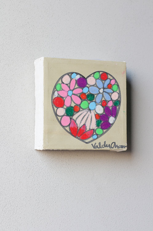 flower heart lead glass