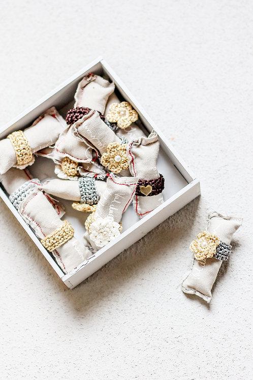 crochet ring box R24.95 each 30 rings R100 box charge