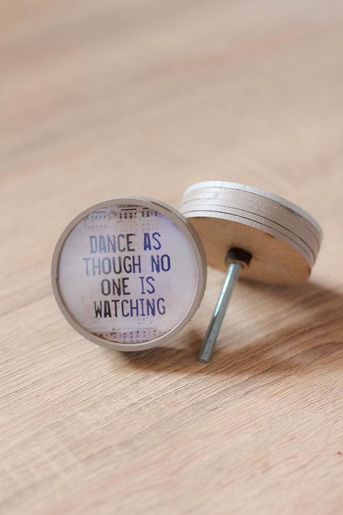 Doorknob dance as though printed