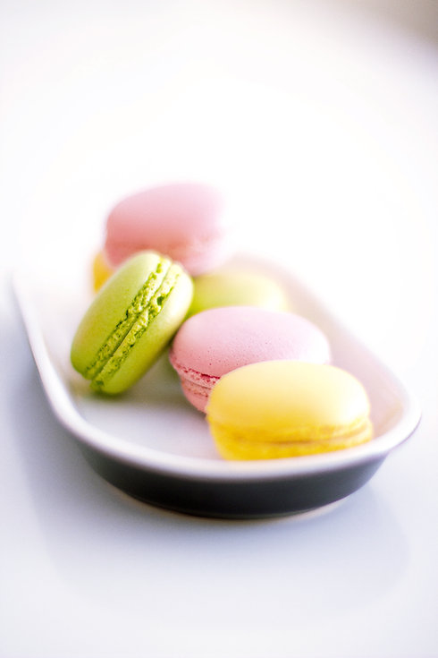 Macaroon on a Plate