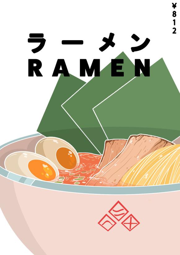 Poster Design for Ramen Shop (Leisure)