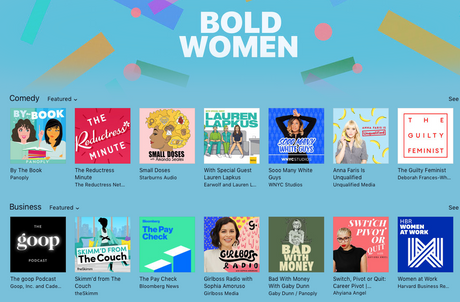 Apple Podcasts Bold Women Features Switc