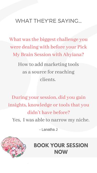 Pick My Brain Review - Lanatha Johnson.p
